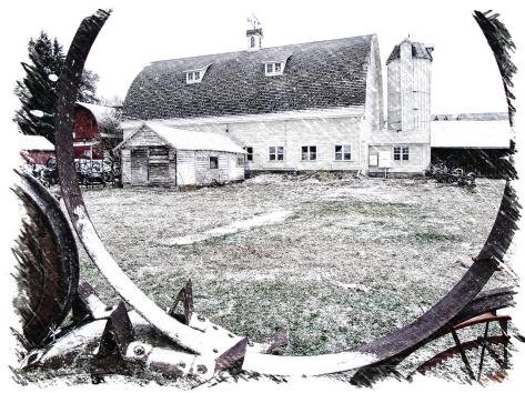 """Dahmen Barn - """"Sketch"""" through Wheel Fence"""